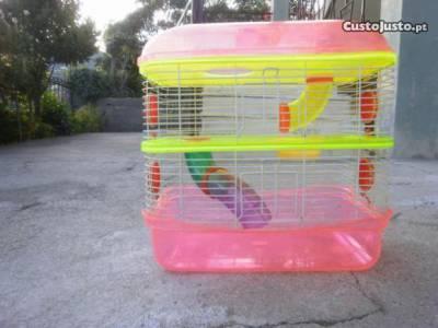 Troco gaiola de três andares apara hamster