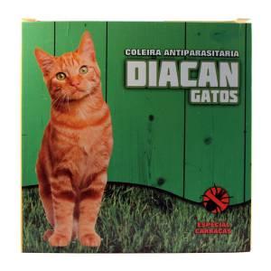 Coleira DIacan antiparasitária para gato